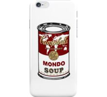"""Mondo Red"" Warhol inspired Campbell's soup.  iPhone Case/Skin"