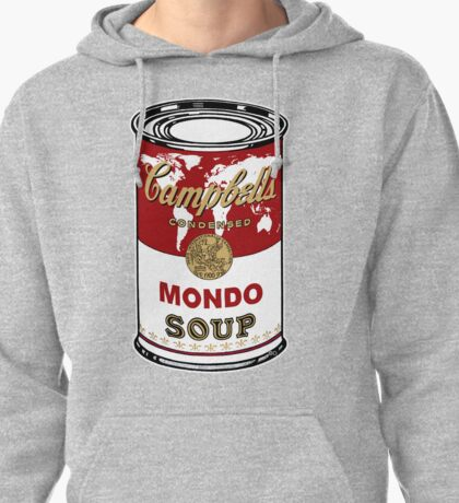 """""""Mondo Red"""" Warhol inspired Campbell's soup.  Pullover Hoodie"""