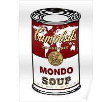"""Mondo Red"" Warhol inspired Campbell's soup.  Poster"