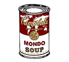 """""""Mondo Red"""" Warhol inspired Campbell's soup.  Photographic Print"""