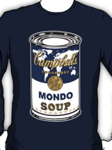 """Mondo Blue"", Warhol inspired Campbell's soup can T-Shirt"