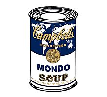 """""""Mondo Blue"""", Warhol inspired Campbell's soup can Photographic Print"""