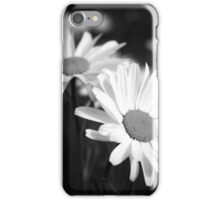 Black and white daisies iPhone Case/Skin