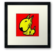 Odie English Bull Terrier Yellow Framed Print