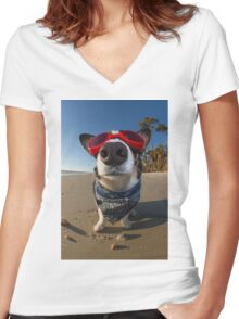 Love Goggles Women's Fitted V-Neck T-Shirt