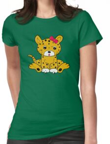 Baby Leopard Womens Fitted T-Shirt