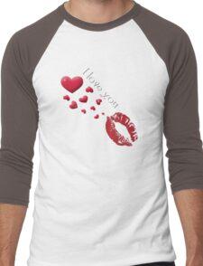 I Love You Men's Baseball ¾ T-Shirt
