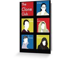 The Clone Club Greeting Card