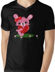 Bunny Love Mens V-Neck T-Shirt