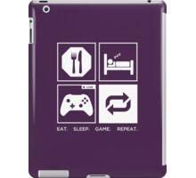 Eat. Sleep. Game. Repeat. iPad Case/Skin