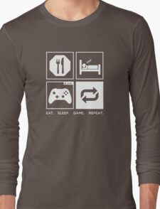 Eat. Sleep. Game. Repeat. Long Sleeve T-Shirt