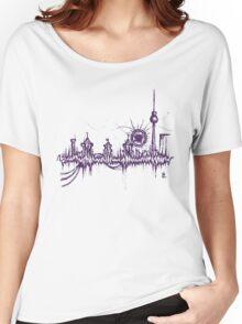 Berlin vibe (purple) Women's Relaxed Fit T-Shirt