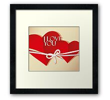 Valentine two hearts  Framed Print