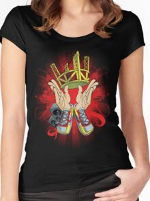 It's a Style.Red/Yellow Women's Fitted Scoop T-Shirt