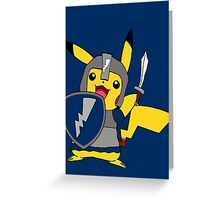 MCC Crusader Pikachu Greeting Card