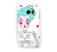 Doll girl with heart mouth Samsung Galaxy Case/Skin