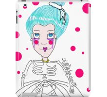 Doll girl with heart mouth iPad Case/Skin