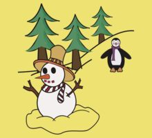 Snow man One Piece - Short Sleeve