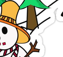 Snow man Sticker