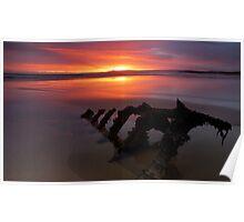 Low tide dawn Poster