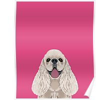 Harper - Cocker Spaniel phone case gifts for dog people dog lovers presents Poster