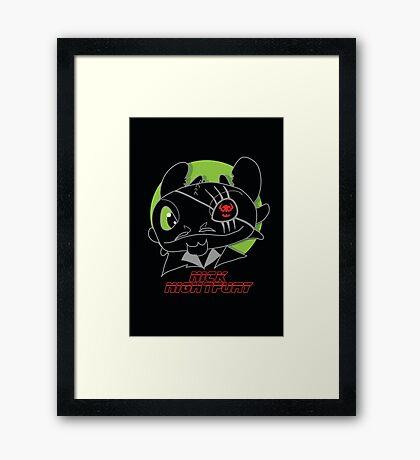 Nick Night Fury Framed Print