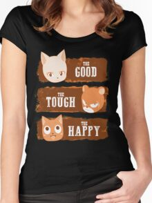The Good, The Tough and The Happy Women's Fitted Scoop T-Shirt