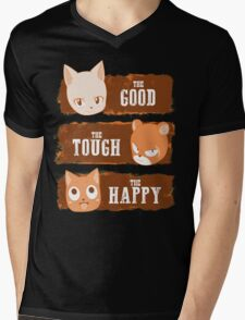 The Good, The Tough and The Happy Mens V-Neck T-Shirt
