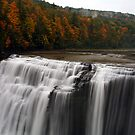 Middle Waterfalls With Fall Colors by BigD