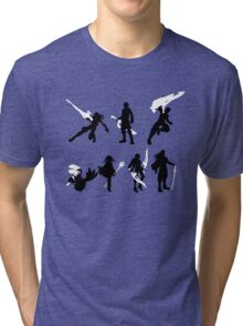 Xenoblade party silhouette (ver. 2) Tri-blend T-Shirt