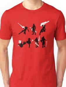 Xenoblade party silhouette (ver. 2) Unisex T-Shirt