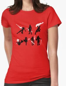 Xenoblade party silhouette (ver. 2) Womens Fitted T-Shirt