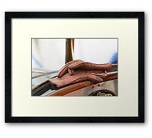 Driver's Gloves Framed Print