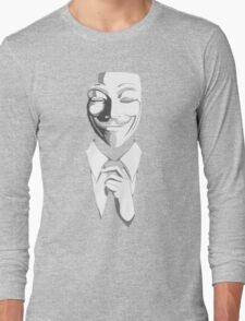 Anonymous (group) - Collar and Tie Long Sleeve T-Shirt