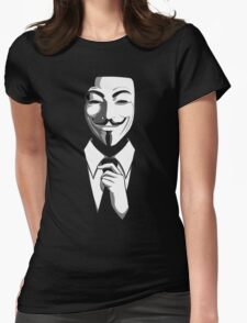 Anonymous (group) - Collar and Tie Womens Fitted T-Shirt