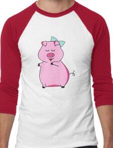 Piggy Pink Men's Baseball ¾ T-Shirt