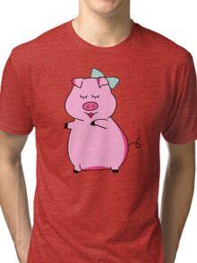 Piggy Pink Tri-blend T-Shirt