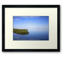 Skaket Blue Sky. Framed Print