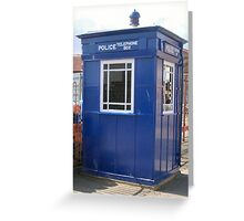 Tardis Police Box Greeting Card
