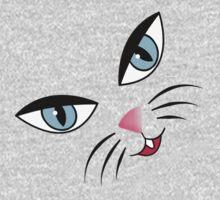 Kitty Face Kids Tee