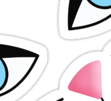 Kitty Face Sticker