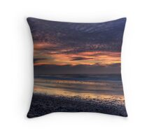 Inverness Beach Sunset Throw Pillow