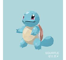 Squirtle Low Poly Photographic Print