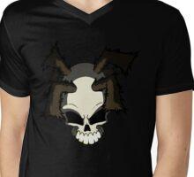 Graff Skull Mens V-Neck T-Shirt