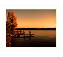 Autumn Docks Art Print