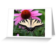 Swallowtail on Coneflower Greeting Card