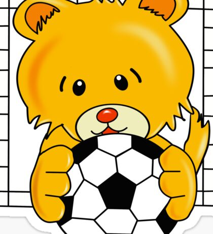 Soccer Bear Sticker