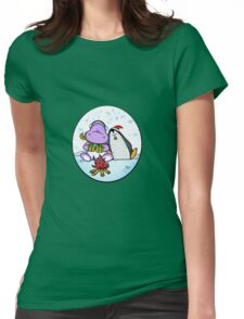 Hippo & Penguin Womens Fitted T-Shirt