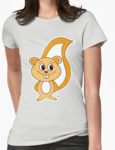 Rally Squirrel Womens Fitted T-Shirt