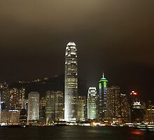 Hong Kong and Victoria Harbour at night by Alisdair Gurney